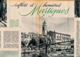 1962 : Document, MARTIGUES, Ruelles, Quartier Brescon, Plage, Canal Saint-Sébastien, Marché, Tour De L'église, Musée.... - Vieux Papiers