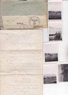 Militaria Guerre 39-45 LETTRE  PRISONNIER DE GUERRE  Camp De Colmar Enveloppe/lettre & 5 Photos   Ref 200616 - Storia Postale