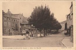 Loire. St-Julien-Molin-Molette.  Place Du Marché. - France