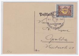 Dt.- Reich (004544) Postkarte Mit MNR 828 Mit FDC Sonderstempel Tag Der Briefmarke Berlin 10.1.1943 - Germania