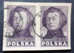 Pologne > 1944-.... République > 1947... > Oblitérés N° 498 ND X 2 - 1944-.... Republic