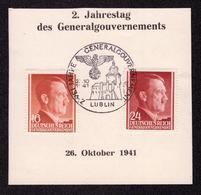 DR Abschnitt LUBLIN - 26.10.1941 - Mi.76,78 SST ZWEI JAHRE GENERALGOUVERNEMENT - Besetzungen 1938-45