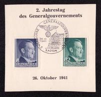 DR Abschnitt RADOM - 26.10.1941 - Mi.73,80 SST ZWEI JAHRE GENERALGOUVERNEMENT - Besetzungen 1938-45