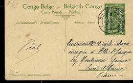 Occ. Belge; Carte Illustrée N° 7. Vue 35.: Vers Biaramundo. Traversée De La Ruwuwu.  Obl. Kigoma 1918 Pour La France - Entiers Postaux