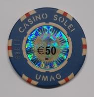 TOKEN JETON CROATIA CASINO SOLEI UMAG 50 EUR - Casino