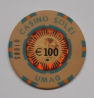 TOKEN JETON CROATIA CASINO SOLEI UMAG 100 EUR - Casino