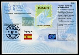 """ESPAGNE  """"110 Ans""""   International Reply Coupon / Coupon Réponse International - Unclassified"""