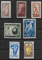 1948 Argentina Revolucion-riel-agricultor-cartografia-seguridad Laboral-17 De Octubre-indio 7v. Mint. - Argentina