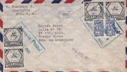 NICARAGUA ENVELOPE CIRCULEE SOMOTILLO A BUENOS AIRES, ARGENTINE ANNEE 1955 PAR AVION -LILHU - Nicaragua