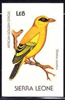 SIERRA LEONE (1988) African Golden Oriole (Oriolus Auratus). Imperforate Proof. Scott No 977, Yvert No 896. - Sierra Leone (1961-...)