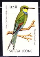 SIERRA LEONE (1988) Swallow-tailed Bee-eater (Merops Hirundineus). Imperforate Proof. Scott No 978 - Sierra Leone (1961-...)