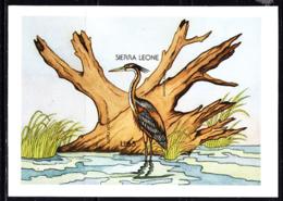 SIERRA LEONE (1988) Purple Heron (Ardea Purpurea). Imperforate Proof Of S/S. Scott No 94, Yvert No BF78. - Sierra Leone (1961-...)