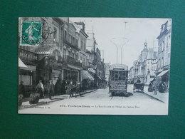 CPA FONTAINEBLEAU HOTEL DU CADRAN BLEU ET TRAMWAY 1912 EXC ETAT - Fontainebleau
