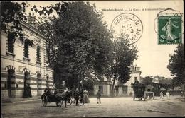 Cp Montrichard Loir Et Cher, La Gare, Le Restaurant Jourdain - Sonstige Gemeinden