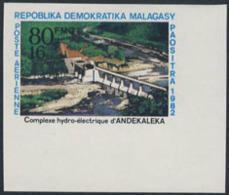 MADAGASCAR (1982) Andekaleka Hydroelectric Plant. Imperforate. Scott No C179, Yvert No PA183. - Madagaskar (1960-...)