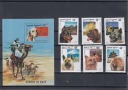 Sahara RSAD Michel Cat.No. Mnh/** Issued 2000 Set + Sheet Dogs - Sonstige - Afrika