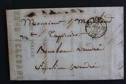 1853 LAC PARIS CAD PORT DÛ 25C 3E /20 POUR NAPOLEON VENDEE (LA ROCHE/YON) CAD ARRIVEE DU 24/02 - 1849-1876: Klassik
