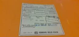 BIGLIETTO TRENO DA SAN DONA' DI PIAVE - IESOLO A COMO SAN GIOVANNI 1979 - Treni