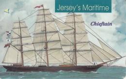 Jersey Phonecard Segel Schiif Chieftain - Phonecards