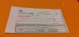 BIGLIETTO TRENO DA MILANO CENTRALE A PALERMO CENTRALE 1979 - Treni