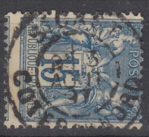 15c SAGE Oblitéré Cachet Type A St CAST (Côtes Du Nord) - Marcophilie (Timbres Détachés)