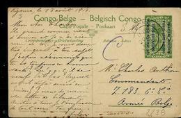 Occ. Belge; Carte Illustrée N° 7. Vue 38 : KIGOMA (la Gare)   écrite: Kigoma 18/08/1918 Pour Armée Belge - Entiers Postaux