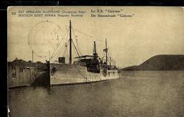 """Occ. Belge; Carte Illustrée N° 7. Vue  33 :  Le S.S. """"Götzen"""" Navire  - Obl. Kigoma 1918 - Entiers Postaux"""
