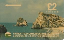 Cyprus Phonecard Beach Rockys - Phonecards