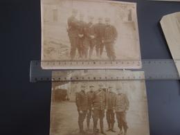 Lot De Photos Militaria Train Militaire Chemin De Fer 9° Régiment Service Militaire Des Chemins De Fer Aigrefeuille - Guerre, Militaire