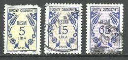 Turkey; 1983 Official Stamps - Sellos De Servicio