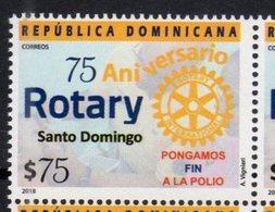 DOMINICAN REPUBLIC, 2018, MNH, ROTARY, 75th ANNIVERSARY, 1v - Rotary, Lions Club