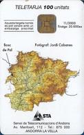 Andorra - STA - Bosc De Pal - 11.2000, 100U, 20.000ex, Used - Andorra