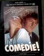 AFF CINE ORIG COMEDIE! 1987 Souchon Birkin Doillon 40x60 Illus Landi - Affiches & Posters