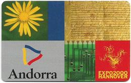 Andorra - STA - Expo 2000 Hannover - 10.2000, 50U, 20.000ex, Used - Andorra