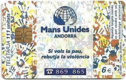 Andorra - STA - Mans Unides II, 02.2002, 111U, 20.000ex, Used - Andorra