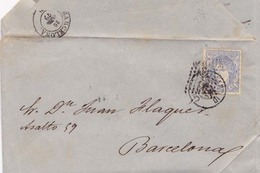 Año 1870 Edifil 107 Alegoria Carta  Matasellos Rombo Valladolid Membrete Reynoso Lara Y Cia - 1868-70 Gobierno Provisional