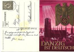 """Entier Postal Illustré """" Danzig Ist Deutsch """". Michel  P 287 1939 Voyagée - Entiers Postaux"""
