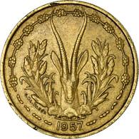 Monnaie, French West Africa, 25 Francs, 1957, TTB, Aluminum-Bronze, KM:9 - Togo