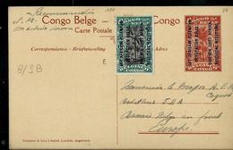 Occ. Belge; Carte Illustrée N° 8. Vue : 38. KIGOMA (La Gare)  Dest. Armée Belge Au Front - Entiers Postaux