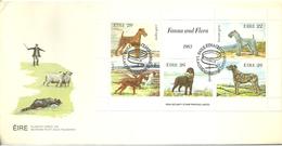 Ireland 1983 Ireland Dogs, Mi 510-514 In Bloc 4 FDC - 1949-... Republic Of Ireland