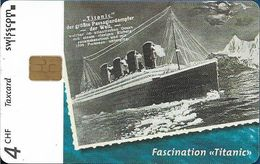 Switzerland - Swisscom (Chip) - V-Cards - Fascination Titanic - 12.1997, 4Fr, 9.000ex, Used - Suiza
