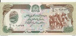 AFGHANISTAN 500 AFGHANIS ND1979-91 UNC P 60 - Afghanistán