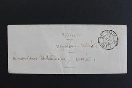 1854 LSC PARIS CAD PORT DÛ 25C 3E /20 POUR NAPOLEON VENDEE (LA ROCHE/YON) CAD ARRIVEE DU 10/06/54 CAD AMBULANTS - 1849-1876: Klassik