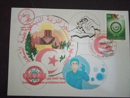 Algeria-Maximum Cards -coronavirus 2020-COVID-19 - Médecine