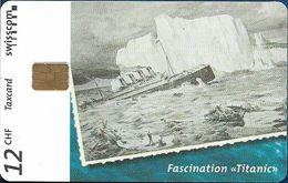 Switzerland - Swisscom (Chip) - V-Cards - Fascination Titanic - 12.1997, 12Fr, 9.000ex, Used - Suiza