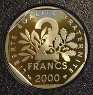Très Belle Pièce De 2 Francs Semeuse 2000, BE, FDC, Du Coffret Monnaie De Paris - I. 2 Francs