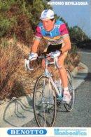 Postcard Antonio Bevilacqua - Benotto-Titanbonifica  - 1989 - Ciclismo
