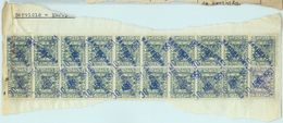 84180  - SPAIN - POSTAL HISTORY - TELEGRAPH STAMPS On 2 Large  COVER  Cut Outs  1951 - Telegrafi