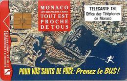 Télécarte Monaco - Prenez Le Bus /  120 U - 100 000  Ex. - 10/92 - Monace