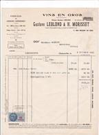 94-G.Leblond & H.Morisset..Vins En Gros, Liqueurs Supérieures.....Choisy-le-Roi..(Val-de-Marne)..1951 - Alimentaire
